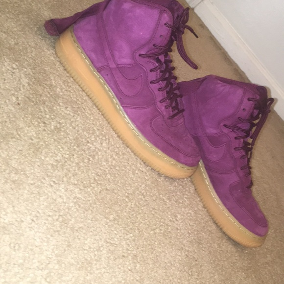 purple velvet nike air force 1